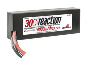 Reaction 7.4V 4000mAh 2S 30C LiPo Hard Case: EC3