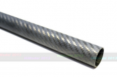 D25xd23xL520mm 3K Matt Finish Carbon Tube