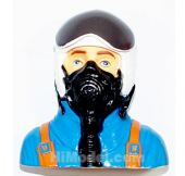 Jet Plane 1/6 Scale Pilot Blue L75×W46×H76mm