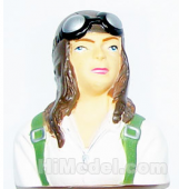 Airplane 1/6 Scale Female Pilot L75xW66xH36mm